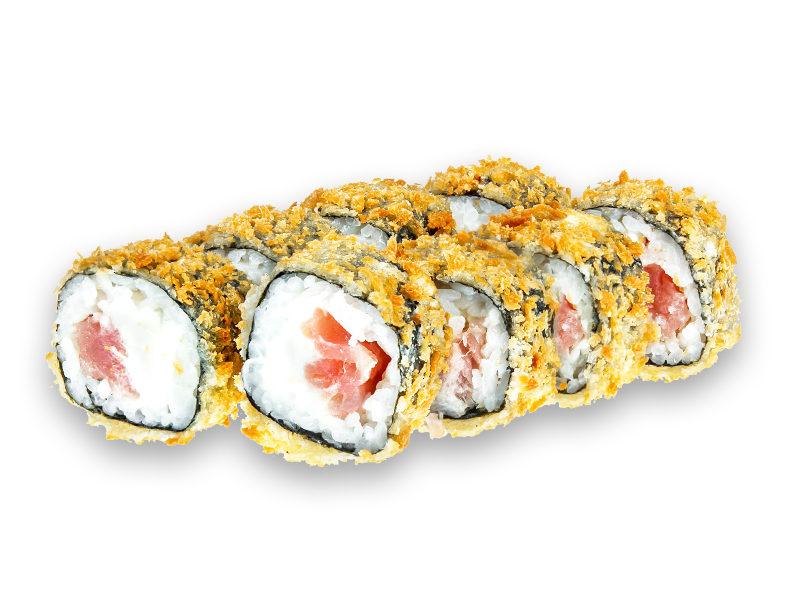 Легкий ролл в кляре с тунцом доставка суши дема